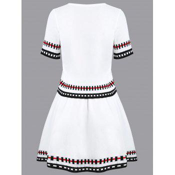 Striped Graphic Knit Two Piece Dress - ONE SIZE ONE SIZE
