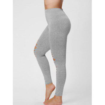 Plus Size Ripped Fitted Leggings