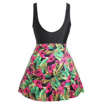 Plus Size Skirted Floral One Piece Swimsuit - XL XL