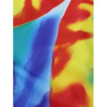 Tie Dye Braided Straps One Piece Swimsuit - L L