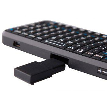 Mini Wireless Handheld Keyboard With Touchpad Mouse - BLACK