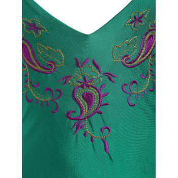 Paisley Embroidered Plus Size Swimsuit - 4XL 4XL