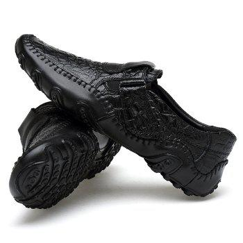 Crocodie Embossed Stitched Casual Shoes - 44 44