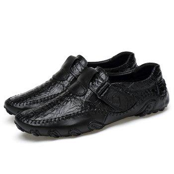 Crocodie Embossed Stitched Casual Shoes - 38 38
