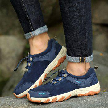Color Block Sports Letter Casual Shoes - BLUE BLUE
