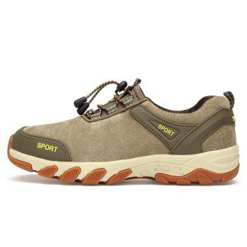 Color Block Sports Letter Casual Shoes - KHAKI KHAKI