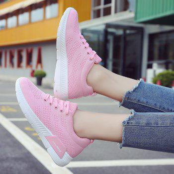 Breathable Hollow Out Mesh Sneakers - PINK PINK