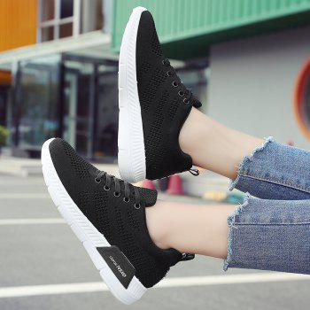 Breathable Hollow Out Mesh Sneakers - BLACK BLACK