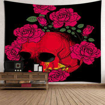 Halloween Skull Roses Home Decor Wall Hanging Tapestry - COLORFUL W71 INCH * L71 INCH