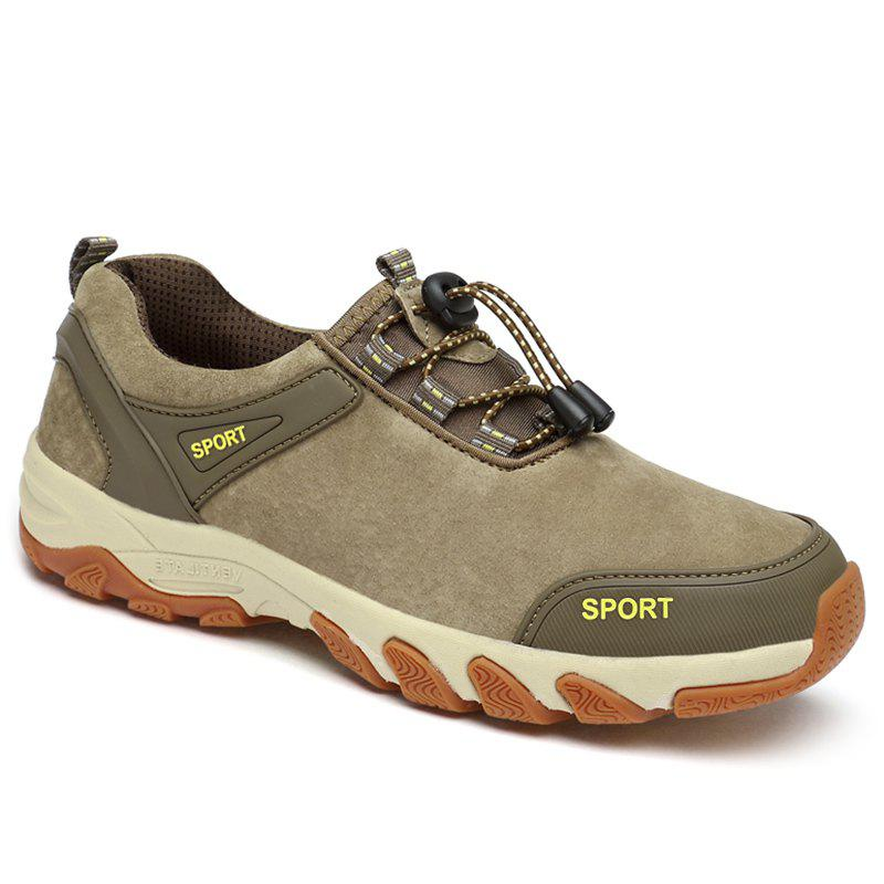 Color Block Sports Letter Casual Shoes - KHAKI 41