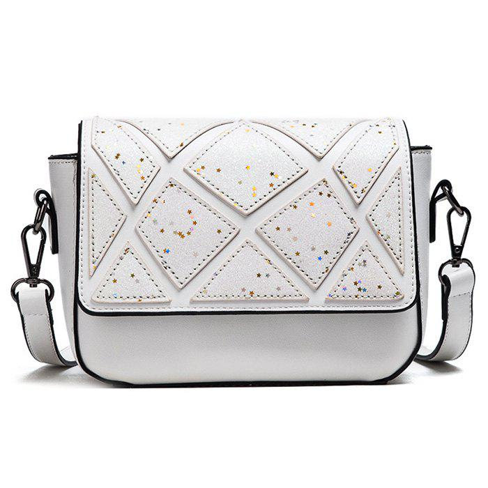 Sac géométrique Faux Leather Crossbody - Blanc