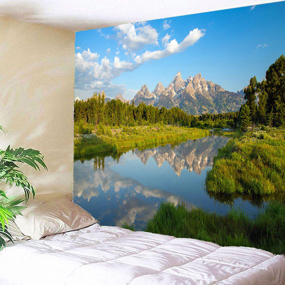 Lake Forest Waterproof Wall Art Hanging Tapestry forest river unicorn print tapestry wall hanging art