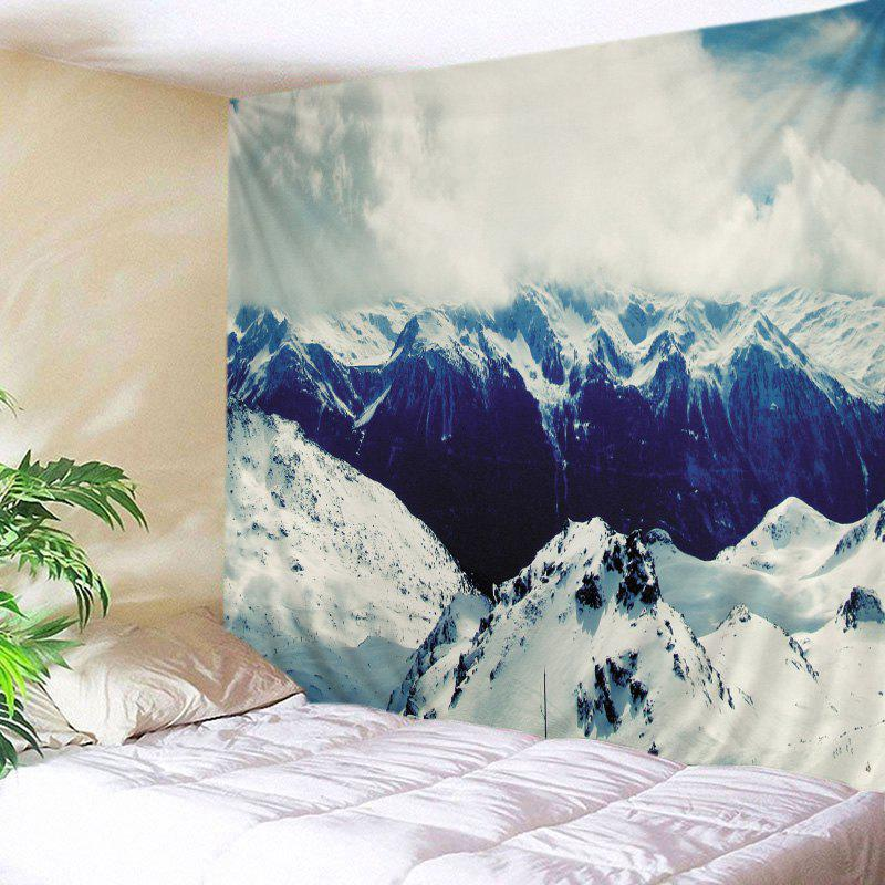 Snow Mountains Print Tapestry Wall Hanging Art wall hanging art decor mountains night print tapestry