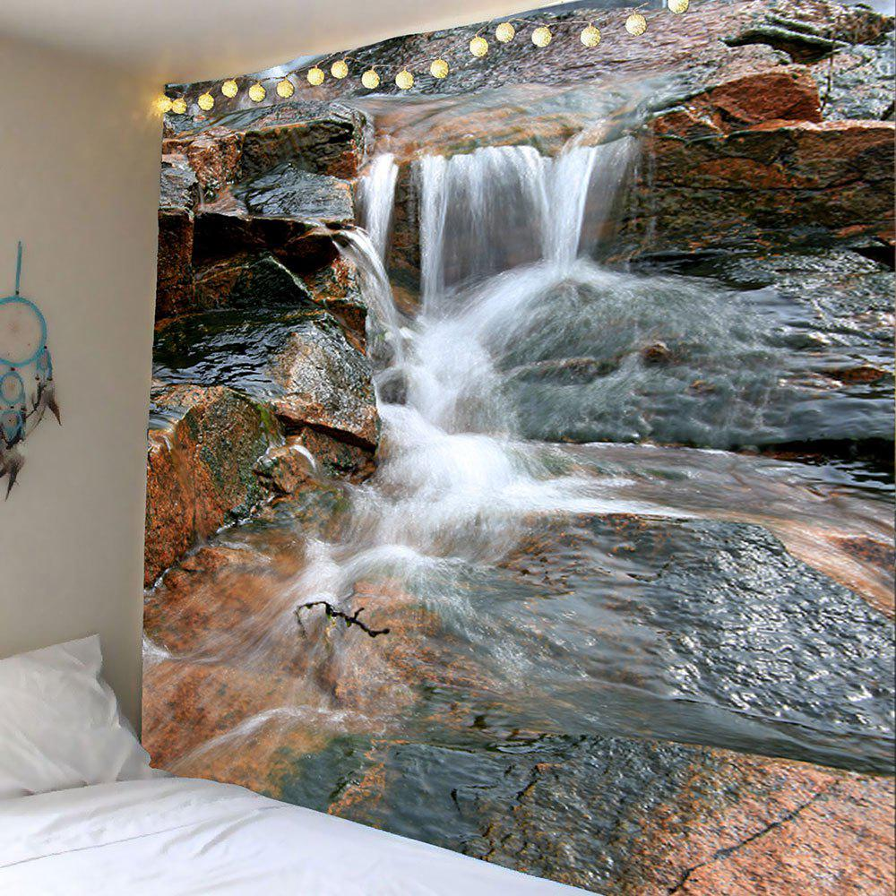 Wall Hanging 3D Valley Flowing Water Printed Tapestry, Colormix