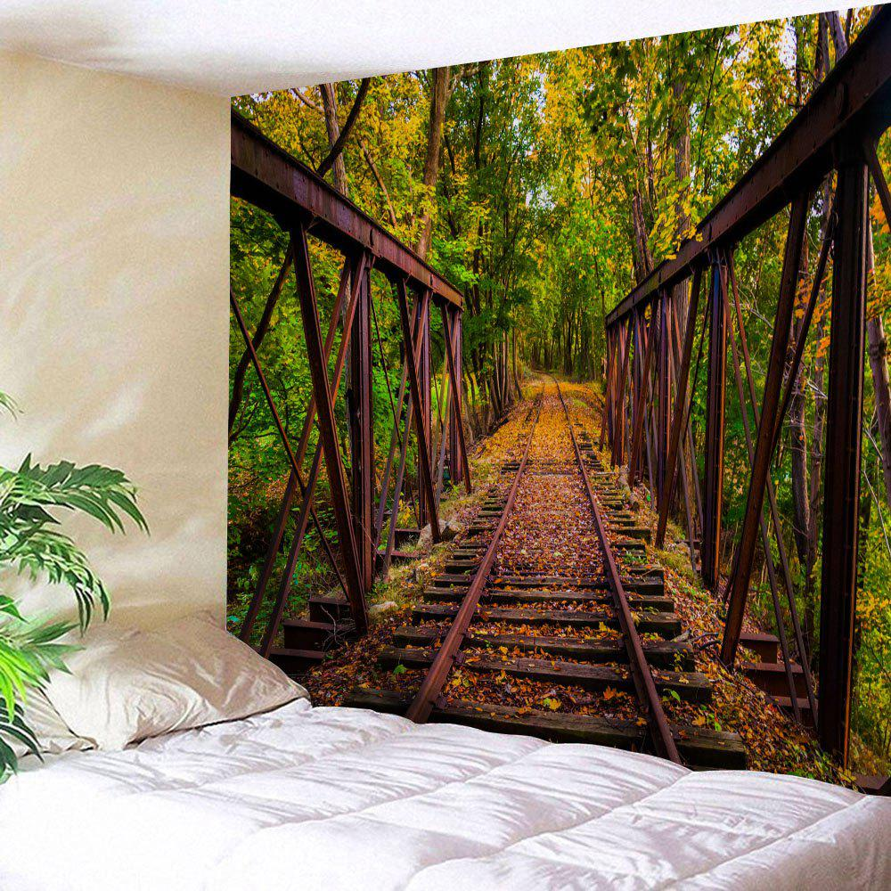 Forest Railway Fabric Wall Art Tapestry forest railway throw wall art tapestry