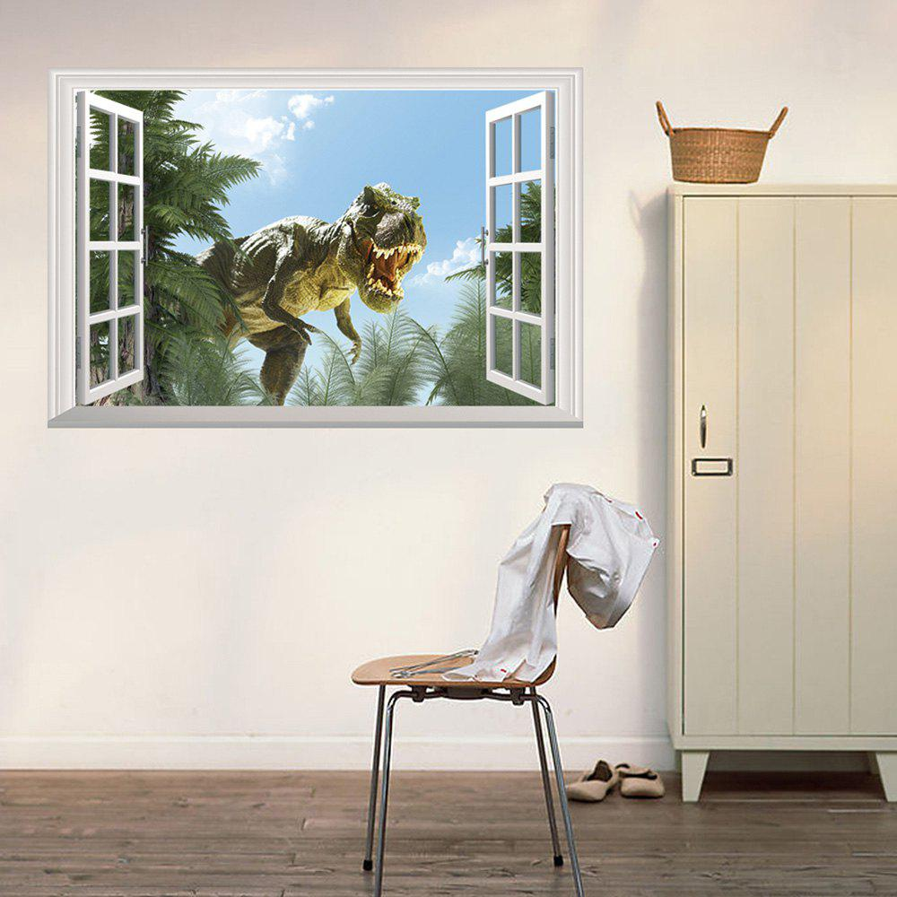 ... Window Dinosaur 3D Wall Art Sticker   COLORMIX 48.5*72CM ... Part 71