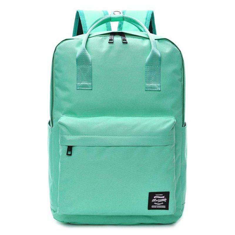 Top Handle Double Pocket Backpack - GREEN