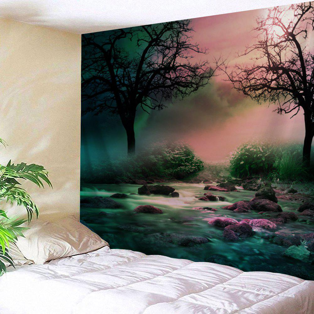 Trees Streams Print Tapestry Wall Hanging Art trees wood door print tapestry wall hanging art