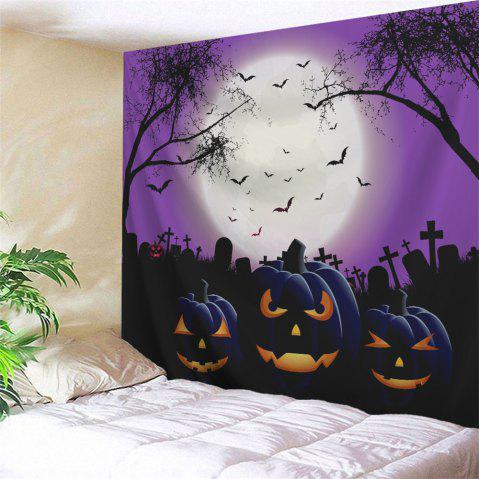 Grimace Pumpkin Halloween Wall Hanging Tapestry - COLORMIX W79 INCH * L71 INCH