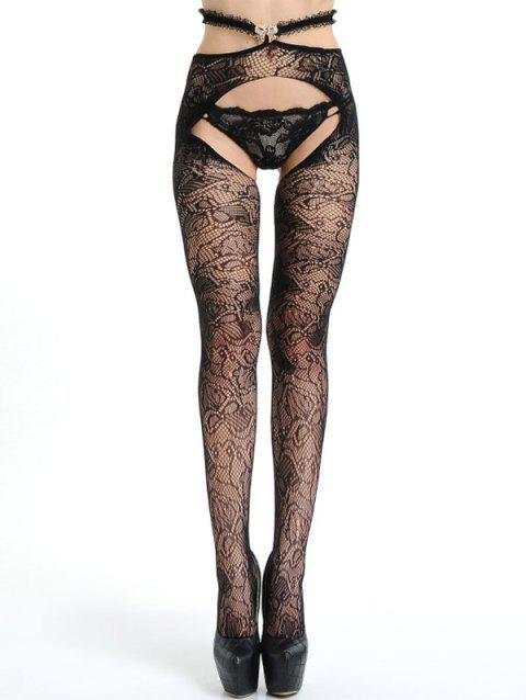 cb65703fd5e 41% OFF  2019 Crotchless Lace Fishnet Tights In BLACK