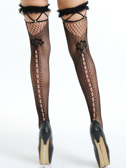9784b1fdfc4 17% OFF  2019 Ripped Fishnet Stocking In BLACK ONE SIZE