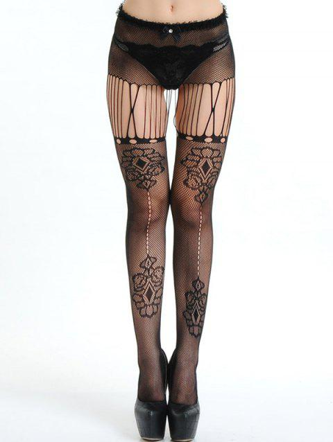 178621f1923 41% OFF  2019 Ripped Mesh Fishnet Tights In BLACK ONE SIZE ...