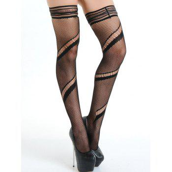 Ripped Mesh Fishnet Stocking - ONE SIZE ONE SIZE