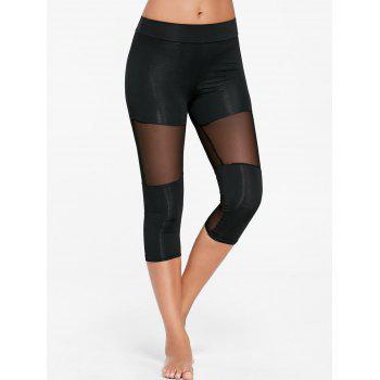 Capri Mesh Panel Workout Leggings
