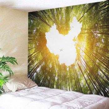 Bamboo Forest Sky Print Tapestry Wall Hanging Decor