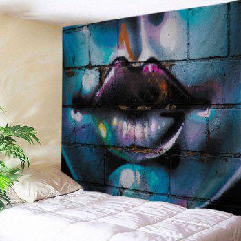 Sexy Lip Graffiti Wall Print Tapestry Wall Hanging Art