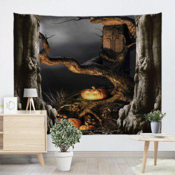 Halloween Decor Wall Art Hanging Tapestry - DEEP GRAY W79 INCH * L71 INCH