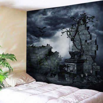 Gruesome Night Printed Halloween Wall Tapestry