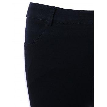 Two Tone Four Pockets Pencil Pants - M M