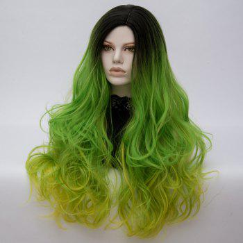 Long Middle Part Shaggy Colormix Layered Wavy Anime Cosplay Wig -  SHAMROCK