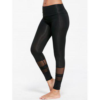 Sheer Mesh Insert Sports Tights