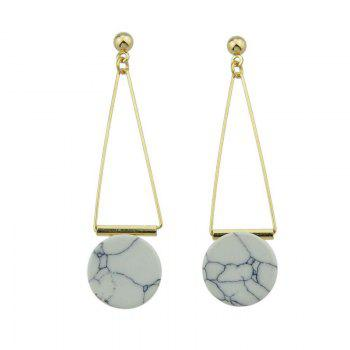 Artificial Rammel Triangle Disc Drop Earrings