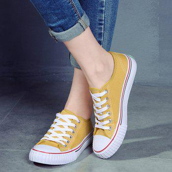 Round Toe Canvas Sneakers - 38 38