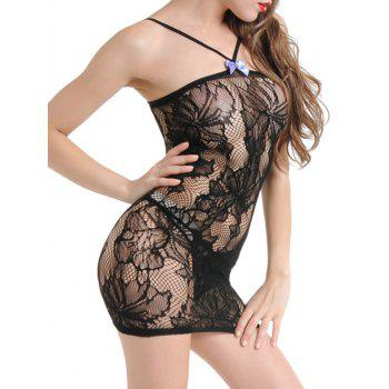 Y-strap Sexy Lace Dress - ONE SIZE ONE SIZE