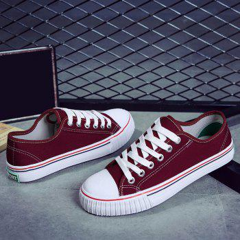 Round Toe Canvas Sneakers - 37 37
