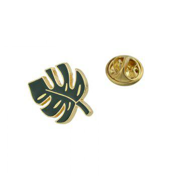 Alloy Leaf Shaped Tiny Brooch -  GREEN