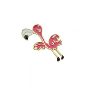 Bird Tiny Funny Brooch -  RED