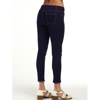 Ripped Ankle Cigarette Jeans - 2XL 2XL