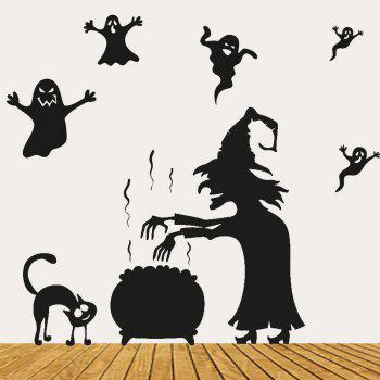 Halloween Witch Ghost Vinly Wall Stickers