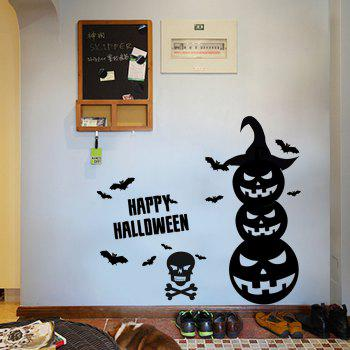 Halloween Pumpkin Vinyl Wall Art Stickers - 57*34CM 57*34CM