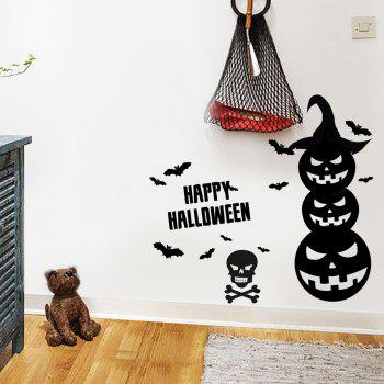 Halloween Pumpkin Vinyl Wall Art Stickers - BLACK 57*34CM