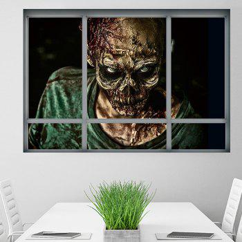 Halloween Window Zombie 3D Wall Art Sticker