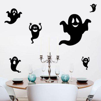 Halloween Ghost Shape DIY Wall Stickers - BLACK