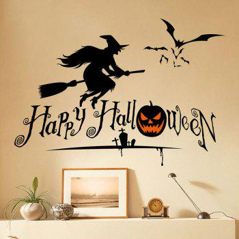 Home Decor Halloween Witch Shape DIY Wall Stickers