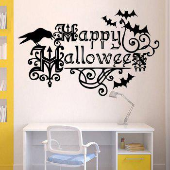 Happy Halloween Shape DIY Wall Stickers -  BLACK