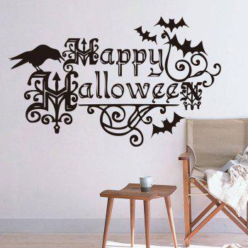 Happy Halloween Shape DIY Wall Stickers - BLACK BLACK
